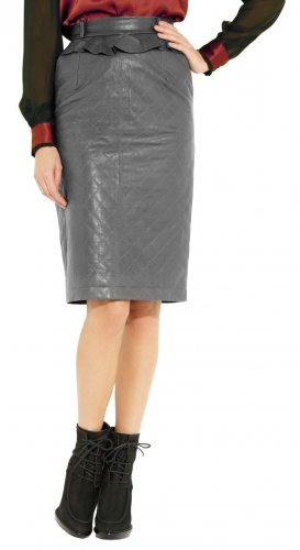 Beautiful Ladies Leather Skirt for Office  TSI 2007