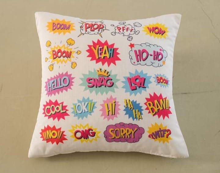 Digital Print Cushion Cover 100% Cotton Satin DC-001