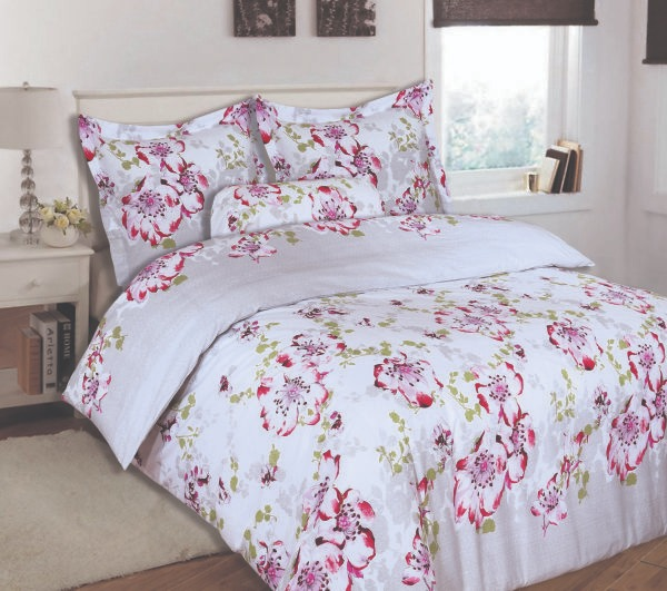 100% Cotton Satin King Bed sheet+Duvet Cover With Two Pillow Cover AIT-10098