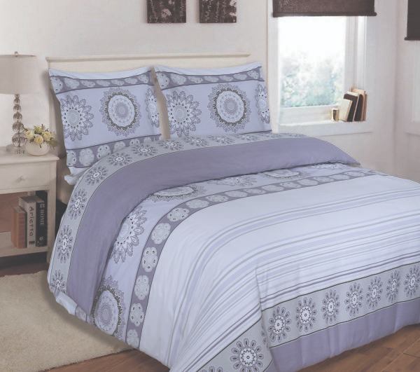 100% Cotton Satin Double Bed sheet+Duvet Cover With Two Pillow Cover AIT-10085