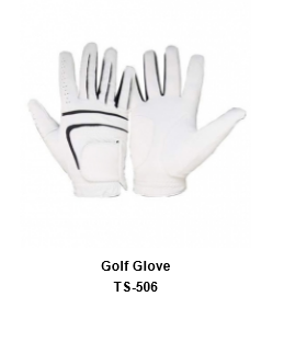 Men's Golf Gloves White Model No.TSI 506