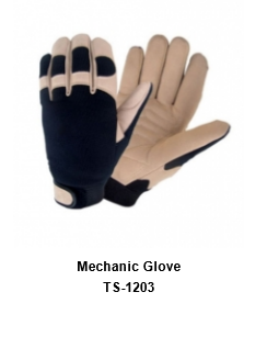 Mechanic Flex Grip Work Gloves, Shrink Resistant, Improved Dexterity, Tough, Stretchable, Excellent Grip TSI 1203