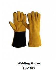 Premium Leather Welding Gloves  Long Cuff TSI 1103