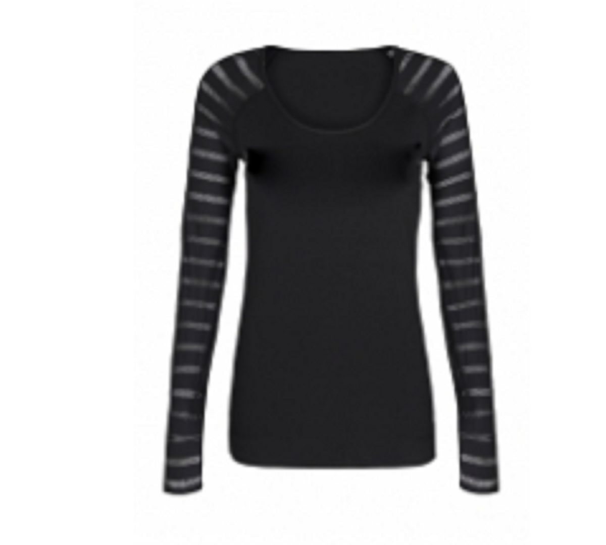 Ladies  Sports Tops Black  & Grey TSI­-3403