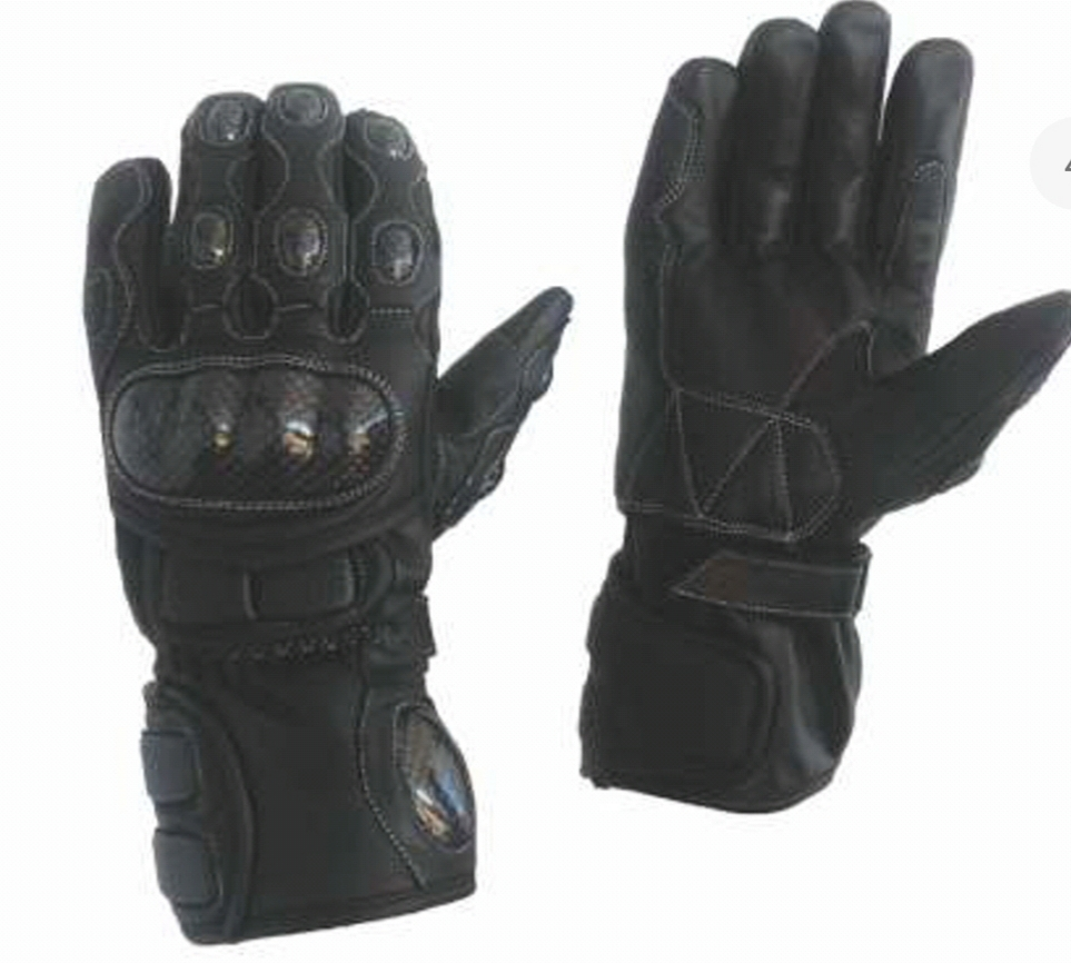 Motorbike Gloves  Black
