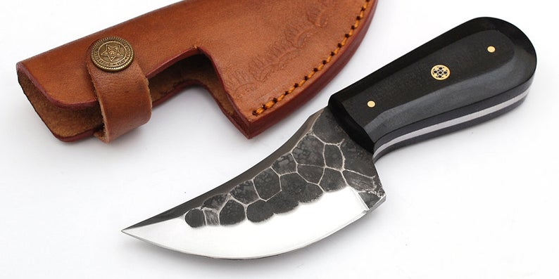 Custom Made 1095 Steel Skinner Hunting Knife With Amazing File Work On Blade GT--4344