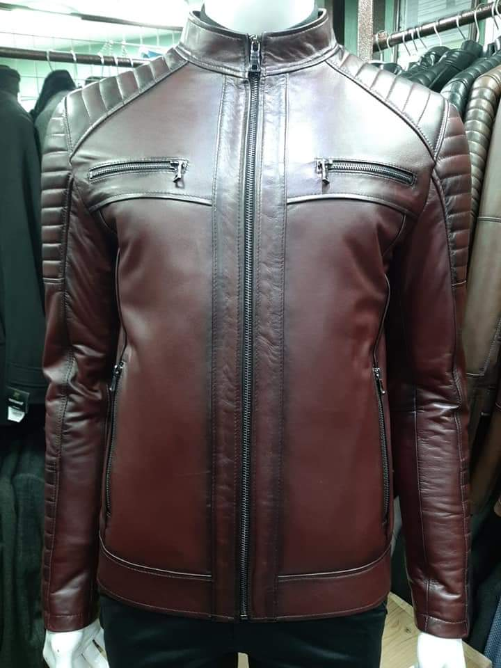 Motorcycle Men Leather Jackets TIMJ - 026