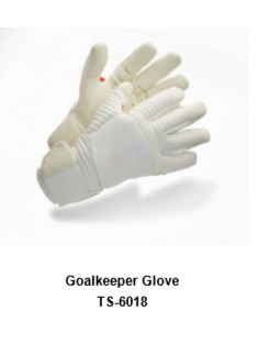 Goalkeeper Gloves with Double Wrist Protection Black Model No. TSI 6018