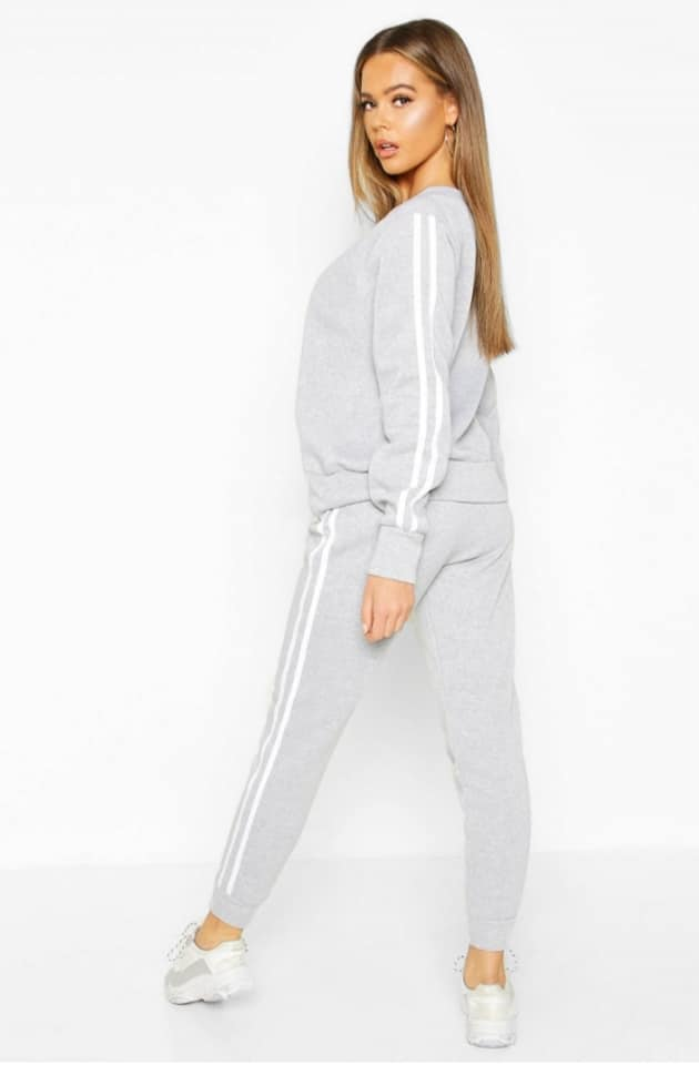 Attractive Sports Stripe Jogger Tracksuit Set  KB -13