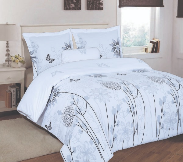 100% Cotton Satin Double Bed sheet+Duvet Cover With Two Pillow Cover AIT-10081