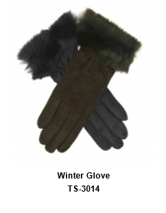 Winter Gloves for Men and Women Thermal Soft Wool Lining - Knit Stretchy Material TSI  314