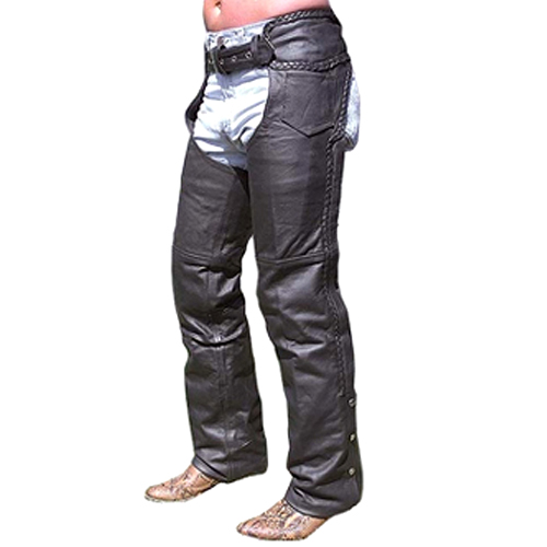 Motorbike Leather Chaps DRC-802