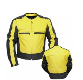 Men Cordura Leather Jacket TSI 1704