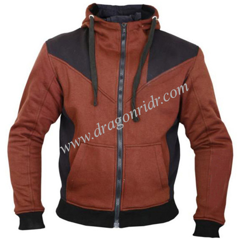 Brown and Black Biker Hoodies  DRH- 1710