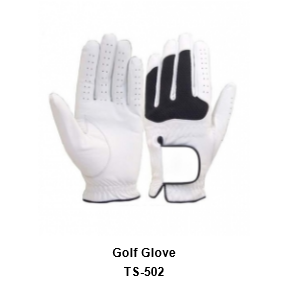 Men's Golf Gloves White Model No.TSI 502