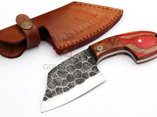 Custom Made 1095 Steel Hunting Knife With Stunning File Work On The Blade  GT--4346