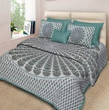 Luxurious 4 Piece Bed Set with Duvet Cover Fitted Sheet AQF-0004