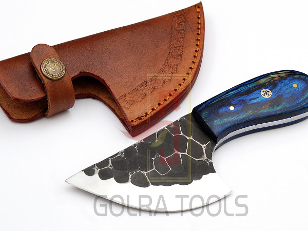 Custom Made 1095 Steel Hunting Knife With Stunning File Work On The Blade GT--4350