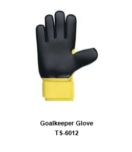 Goalkeeper Gloves with Double Wrist Protection Black Model No. TSI6012