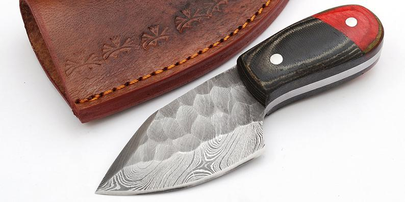 Custom Made 1095 & 4340 Steel Skinner Hunting Knife With Amazing File Work On Blade GT-4320