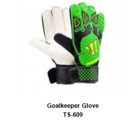 Goalkeeper Gloves with Double Wrist Protection Black Model No. TSI TSI 609