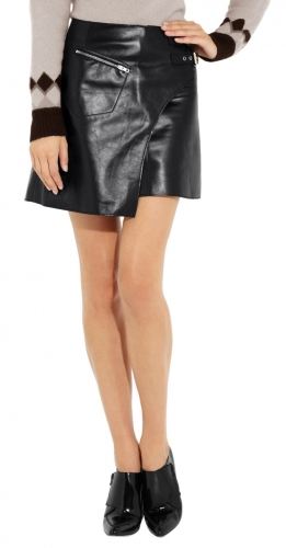 Beautiful Ladies Leather Skirt for Office  TSI 2004