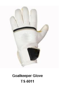 Goalkeeper Gloves with Double Wrist Protection Black Model No. TSI TSI 6011