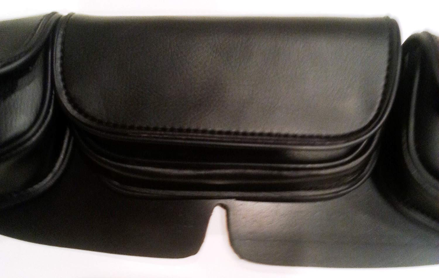 Three Individual Storage Pocket Windshield Leather Bag