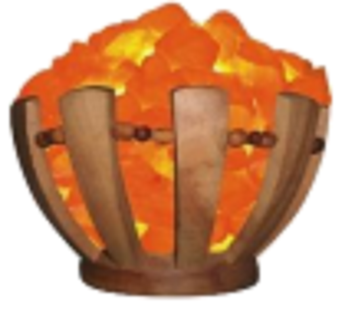 SUMBAL SALT LAMPS WOODEN BASKET WITH CHUNKS 7LBS ZRS 678