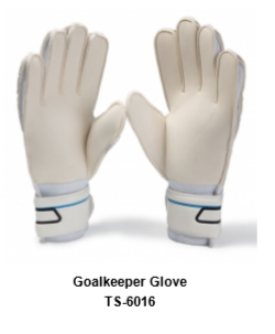 Goalkeeper Gloves with Double Wrist Protection Black Model No. TSI 6016