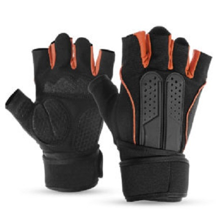 Gym Workout Gloves with Wrist Wrap Support Model No. CHS-13