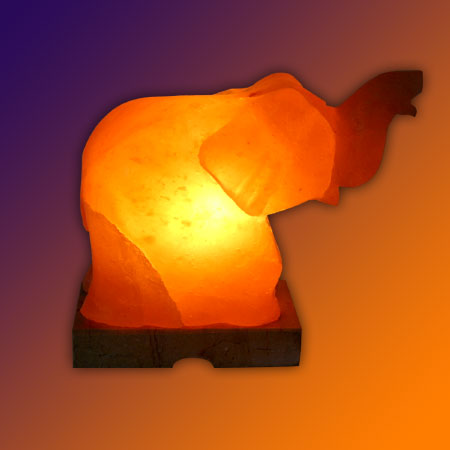 Elephant Handcrafted Himalayan Salt Lamp Model No. SL-011