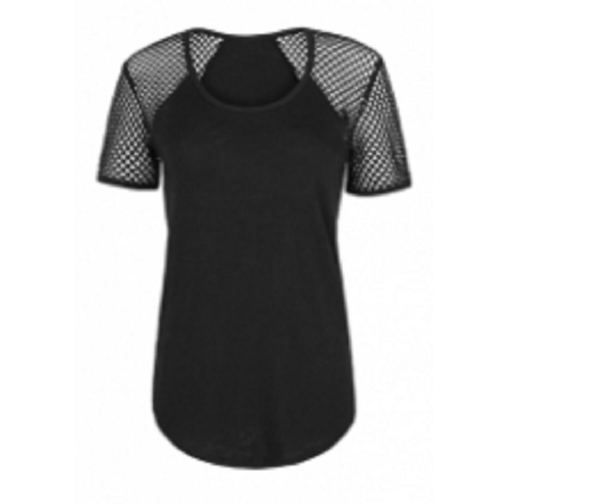 Ladies Sports Tops Black TSI­-3402