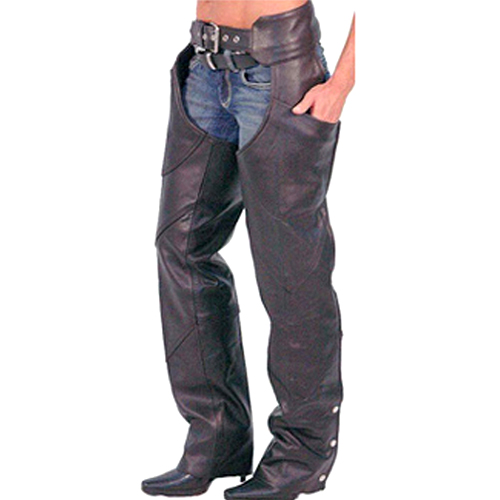 Motorbike Leather Chaps DRC-804