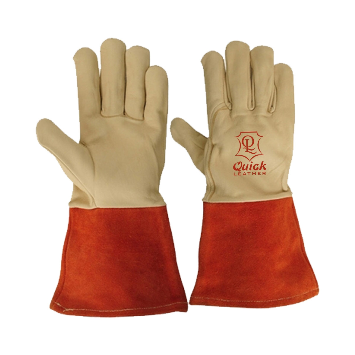 Welding gloves are excellent for use when welding in dry and oily conditions  QL 210